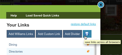 Saving your Quick Links