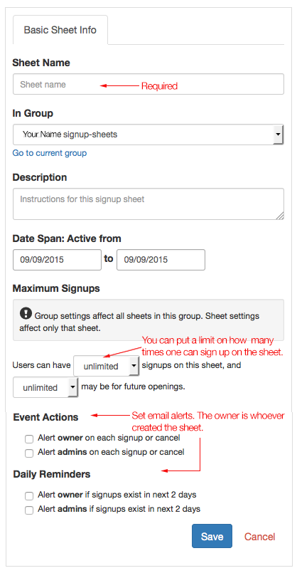 How Do I Create A New Signup Sheet? | Office For Information
