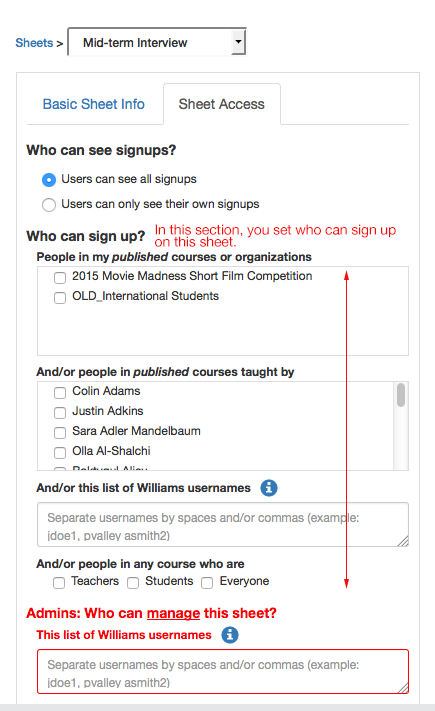 how to make a sign up sheet
