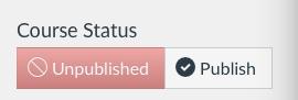 Course Publish Button