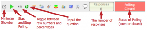 During the slide show this toolbar will be open.