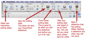 Floating TurningPoint Toolbar for Mac.