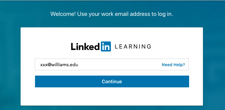LinkedIn Learning sign in step 3