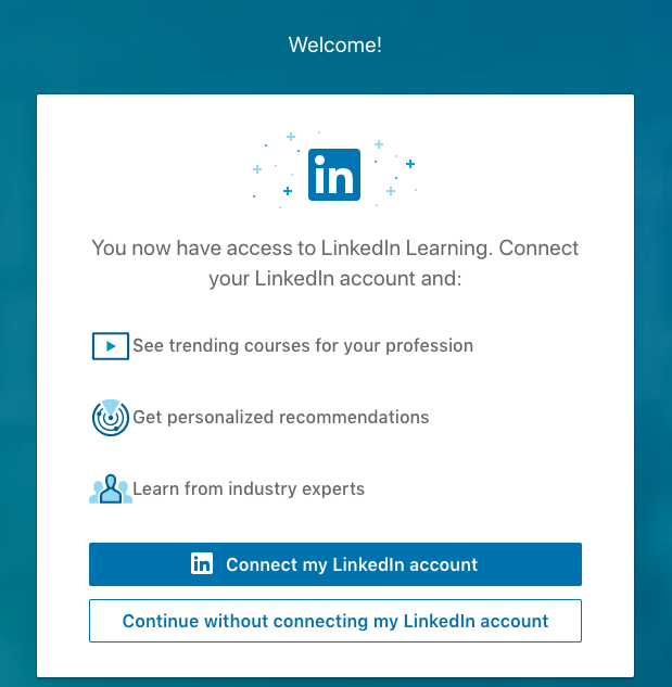 LinkedIn Learning sign in step 5